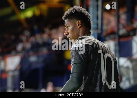 Luton, Royaume-Uni. 07e juillet 2020. Marcus Rashford de Manchester United (10) lors du match de la Carabao Cup entre Luton Town et Manchester United à huis clos à Kenilworth Road, Luton, Angleterre, le 22 septembre 2020. Photo de David Horn. Crédit : Prime Media Images/Alamy Live News Banque D'Images