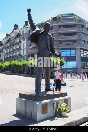 Statue de Freddie Mercury, chanteur de REINE à Montreux, Suisse