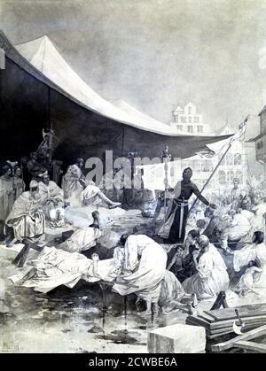 The Cross', c1900-1939 artiste: Alphonse Mucha. Alphonse Maria Mucha (1860-1939) est le plus souvent rappelé pour le rôle important qu'il a joué dans l'esthétique de l'Art nouveau français au tournant du siècle. Banque D'Images