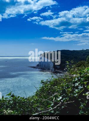 Vue dégagée sur une falaise blanche à Douvres Banque D'Images