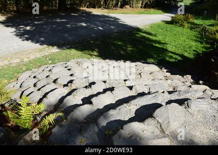Wasserspiele - Plutogrotte, Teufelsbrücke et le temple de Jussow