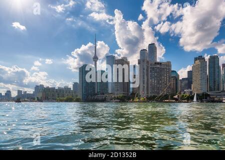 Horizon de la ville de Toronto, lac Ontario, Toronto, Canada