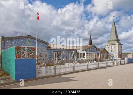 Sneglehuset, maison couverte de coquillages et coquillages, aujourd'hui un musée à Thyborøn, Danemark