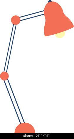 lampe de bureau isolée icône vecteur illustration conception