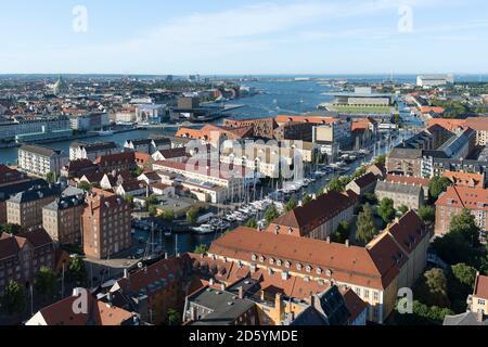 Danemark, Copenhague, vue sur la ville depuis la Cathédrale du Christ Sauveur