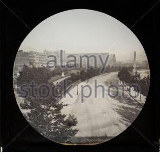 Gare de Victoria Embankment et Charing Cross, Londres, Angleterre, Royaume-Uni, a terminé 1870 sous la direction de Joseph Bazalgette, photographie considérée comme c 1890 Banque D'Images