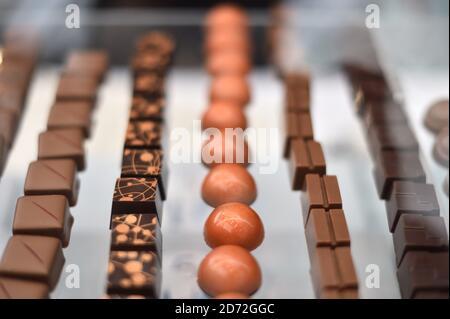 Chocolat à vendre au Chocolate Show, à Olympia à Kensington, Londres. Date de la photo: Vendredi 13 octobre 2017. Le crédit photo devrait se lire: Matt Crossick/ EMPICS Entertainment.