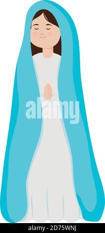 dessin vectoriel de personnage de personnage de dessin animé de nativité manger