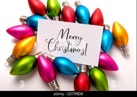 Boules de Noël, boule avec note de joyeux Noël