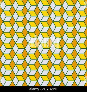 Motif sans couture cubique Vector ou texture moderne. Banque D'Images