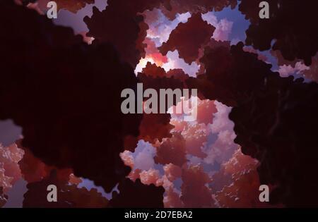 L'hémoglobine est la métalloprotéine de transport de l'oxygène contenant du fer dans les globules rouges. Il transporte l'oxygène des poumons vers le reste du corps.