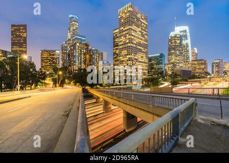 Los Angeles Downtown Sunset, LA Californie, États-Unis.