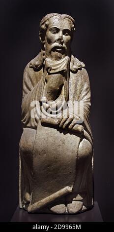 Saint Bartholomée Apôtre XIIe - 13ème siècle Cathédrale romane Choir (Saint-Jacques-de-Compostelle , la Coruna ( Maître Mateo ) Espagne,