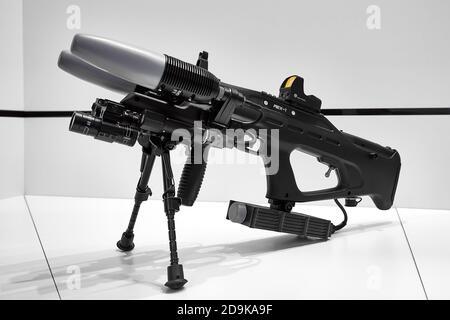 Pistolets radioélectroniques contre les drones volants REX 1. Forum militaire-technique international Armée 2018. Kubinka, Russie 08.21.2018