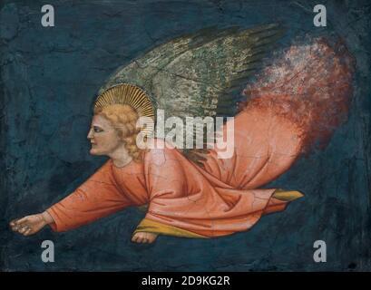 Angel, 14e siècle, l'italien, fresque, Metropolitan Museum of Art, Manhattan, New York City, USA, Amérique du Nord Banque D'Images