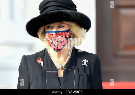 Berlin, Allemagne. 15 novembre 2020. Camilla, duchesse de Cornouailles, à la réception du Président fédéral de l'Allemagne au Palais Bellevue le 15 novembre 2020 à Berlin, Allemagne crédit: Geisler-Fotopress GmbH/Alay Live News