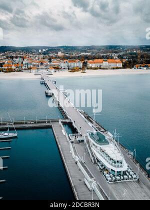 La jetée de Sopot depuis les airs
