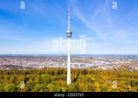Stuttgart tv tour horizon vue aérienne ville architecture voyage En Allemagne
