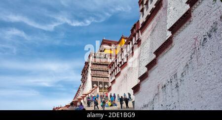 Palais Potala (site classé au patrimoine mondial de l'UNESCO), Lhassa, Tibet, Chine