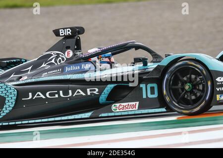 10 Bird Sam (gbr), Jaguar Racing, Jaguar I-Type 5, action pendant les essais pré-saison de Valence pour le Championnat du monde de Formule E de la FIA ABB 2020-21, sur le circuit Ricardo Tormo, du 28 novembre au 1er décembre 2020 à Valence, Espagne - photo Xavi Bonilla / DPPI / LM