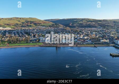 Vue aérienne de Largs, North Ayrshire