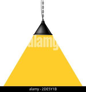 Lampe isolée. Intérieur moderne. Illustration vectorielle