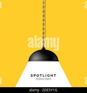 Éclairage de la lampe. Bannière avec espace de copie pour le texte. Vecteur