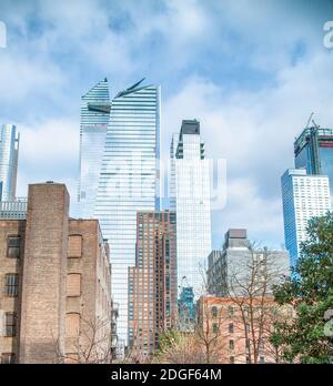 High Line avec gratte-ciel en hiver, New York Manhattan