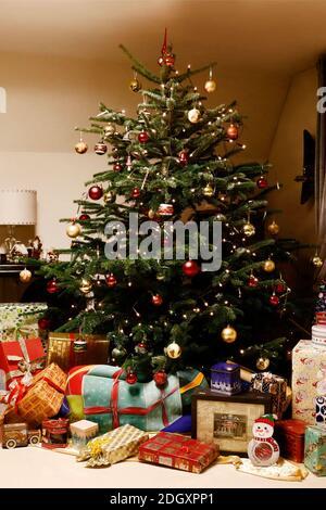 L'heure de l'arrivée avec Dany Michalski. Exclusivité de phototournage avec modèle Katey comme un paquet de Noël de peinture de corps à Einbeck le 6 décembre 2020 - artiste de peinture de corps: Joerg Duesterwald