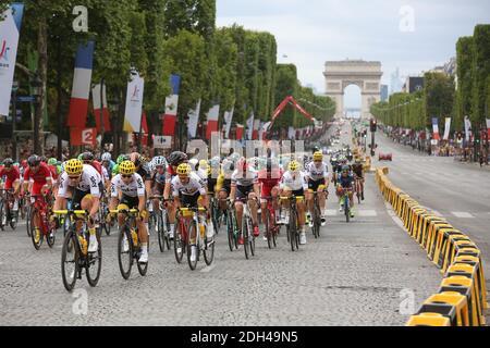 Atmosphère pendant la phase 21 du Tour de France 2017 à Paris, le 23 juillet 2016. Photo de Jerome Domine/ABACAPRESS.COM