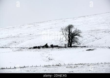 La photo est une scène neigeuse dans les Yorkshire Dales au-dessus de Hawes. Météo neige hiver neige neige neige neige neige neige