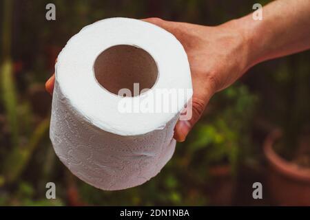 Rouleau court de papier toilette pour les mains