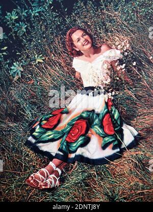 Photograph of Debbie Reynolds (1932-2016) an American actress, singer, and businesswoman.