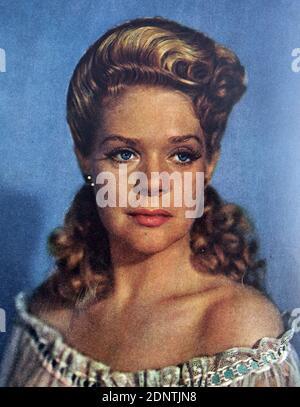 Photographie d'Alice Faye (1915-1998) actrice et chanteuse américaine.