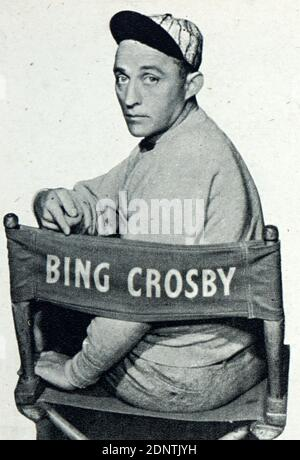 Photograph of Bing Crosby (1903-1977) an American singer, comedian and actor.