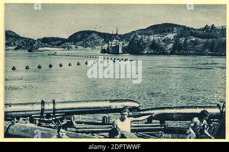 NORVÈGE - VERS 1942: 25ème flottille U-boat - Allemand: 25. Unterseebootsflottille - a été formé à Danzig en avril 1940 comme flotilla d'entraînement responsable