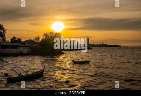 Pattaya Naklua Thaïlande Asie Vibes au coucher du soleil dans la soirée