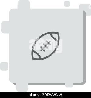 icône de vecteur de football américain illustration moderne de vecteur simple