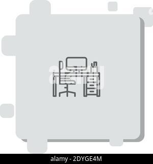 icône de vecteur de l'espace de travail illustration moderne de vecteur simple