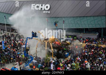 La Princesse, l'araignée mécanique géante créée par la machine, à Liverpool en 2008, capitale européenne de la culture