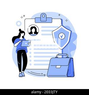 Illustration du vecteur de concept abstrait de l'assurance-chômage. Banque D'Images