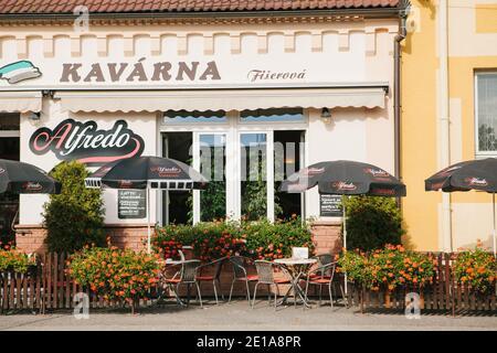 République tchèque, Blatna, 05 octobre 2019 : vue sur un restaurant tchèque traditionnel avec une cuisine nationale.