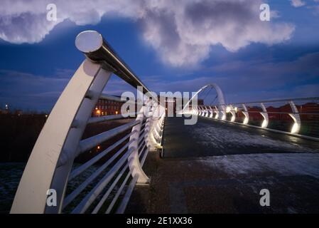 Le Clyde SmartBridge à Glasgow, le Dalmarnock Smart Bridge.