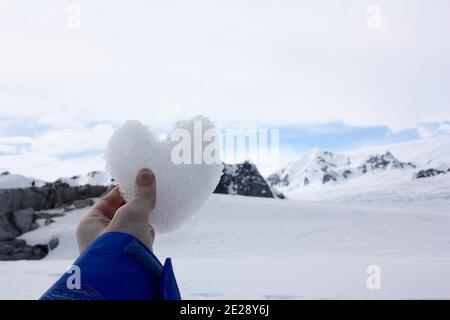 Le cœur glacé surplombe le paysage antarctique