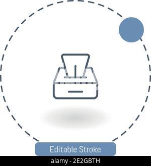 icône de vecteur de boîte de tissu icônes de contour modifiables pour la bande et mobile
