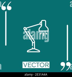 Lampe de table icône vectorielle icône linéaire. Ligne de contour modifiable