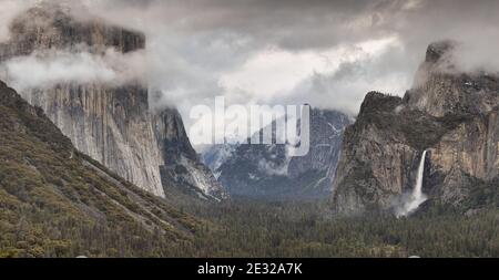 Parc national et vallée de Yosemite avec l'imposant El Capitan