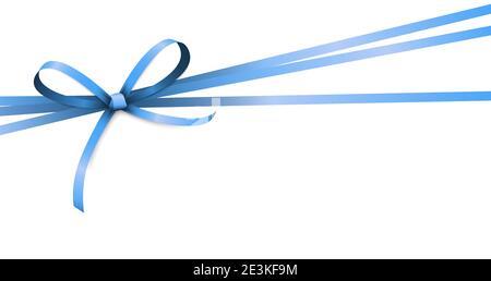 Vecteur EPS 10 illustration de ruban de couleur bleu arc isolé sur fond blanc