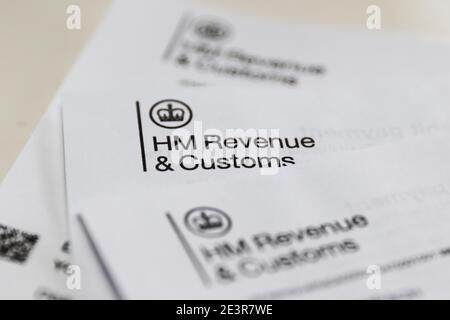 Relevé d'auto-évaluation des revenus et des douanes HMRC HM photo d'Antony Thompson - Thousand Word Media, AUCUNE VENTE, AUCUNE SYNDICATION. Contactez pour plus d'informations