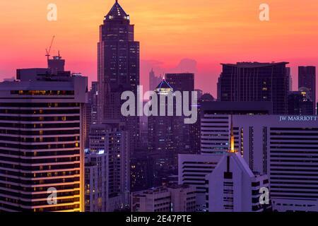 Coucher de soleil sur Bangkok, Thaïlande
